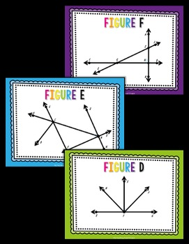 {DOLLAR DEAL} Angle Figure Cards and Editable Student Answer Page