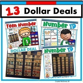 DOLLAR DEAL BUNDLE 2! 13 Dollar Deals (Math, Reading, Word Work, and More!)