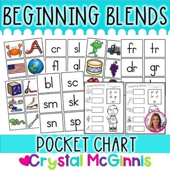DOLLAR DEAL! Beginning Blends Pocket Chart Center