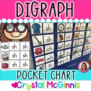 DOLLAR DEAL! Beginning Digraph Pocket Chart Center (sh,ch,th,wh)