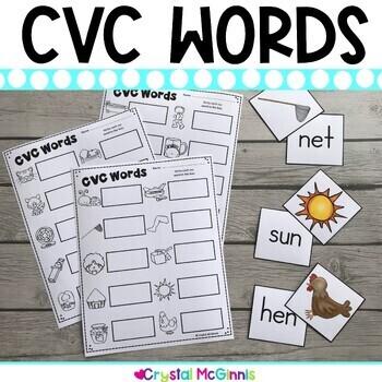 DOLLAR DEAL! CVC Words Pocket Chart Sorting Center