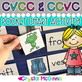 DOLLAR DEAL! CVCC and CCVC Words Pocket Chart Sorting Center
