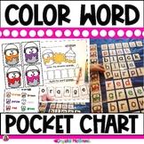 DOLLAR DEAL! Color Words Build It Pocket Chart Center