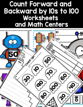 DOLLAR DEAL! Counting Forward and Backward by 10s to 100 Worksheets and Centers