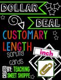 {DOLLAR DEAL} Customary Length Sorting Cards