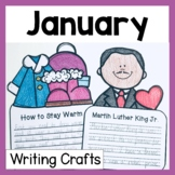 January Craftivity (3 No Prep Writing Prompts & Crafts)