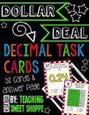 {DOLLAR DEAL} Decimal Task Cards for 4th Grade