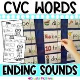 DOLLAR DEAL! Ending Sounds Pocket Chart Center (CVC Words)