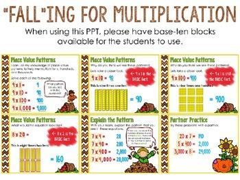 {DOLLAR DEAL} - FALLing for Multiplication PowerPoint Presentation