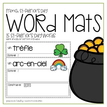 French St Patrick's Day Word Mats
