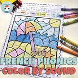 French Summer Worksheets Color by Sound   Été