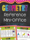 {DOLLAR DEAL} Geometry Math Mini Office for 4th Grade!