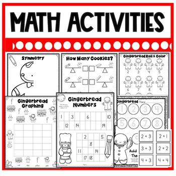 DOLLAR DEAL! Gingerbread Man Printables, Activities, and Craft