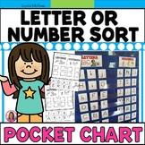 DOLLAR DEAL! Is It a Letter or Number? Pocket Chart Sort
