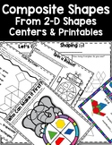 DOLLAR DEAL! Making Composite Shapes Using 2-D Shapes Centers Printables