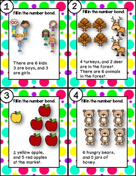 DOLLAR DEAL! Math Center Story Problems Sums of 6  Task Cards