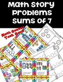 DOLLAR DEAL! Math Center Story Problems Decompose 7 Task Cards Kindergarten
