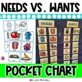 DOLLAR DEAL! Needs vs. Wants Pocket Chart Sort