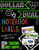 {DOLLAR DEAL}  Notebook & Folder Labels