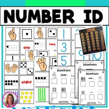 DOLLAR DEAL! Number Recognition Pocket Chart Center (Numbers 1-10)