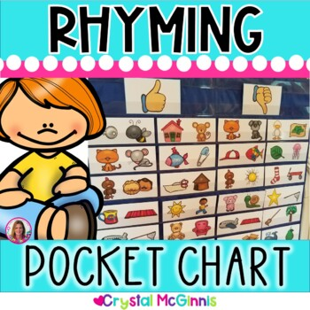 DOLLAR DEAL! Rhyming Words Pocket Chart Center