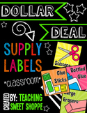 {DOLLAR DEAL} School Supply Labels