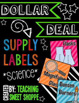 {DOLLAR DEAL} Science Tools Supply Labels