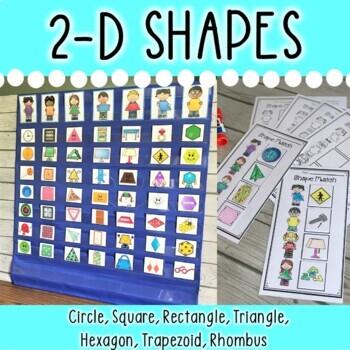 DOLLAR DEAL! Shapes Pocket Chart Sorting Center (2-D Shapes)