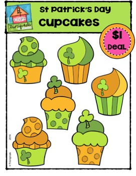 St. Patrick's Day Cupcakes {P4 Clips Trioriginals Digital Clip Art}