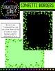 Confetti Borders {Creative Clips Digital Clipart}