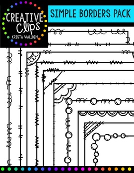 Simple Borders Pack {Creative Clips Digital Clipart}