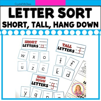 DOLLAR DEAL! Tall Letters, Short Letters, Hang Down Letters Alphabet Sort