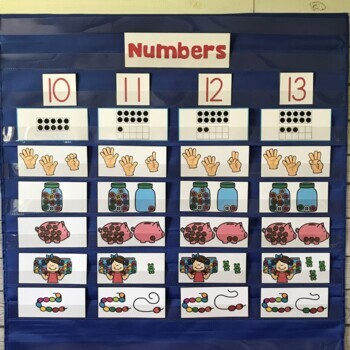 DOLLAR DEAL! Teen Numbers Pocket Chart Center (Numbers 10-20)