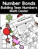 DOLLAR DEAL! Using Number Bonds to Build Teen Numbers Math Center and Printables