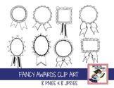 Fancy Ribbon Award Clip Art (olympics, summer sports, etc)