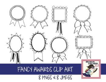 Fancy Ribbon Award Clip Art (olympics, summer sports, etc)
