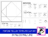 Fortune Teller/Cootie Catcher Clip Art Set (24 Files)