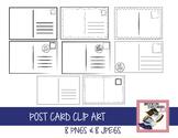 Postcard Clip Art Set