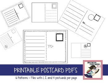 photo relating to Printable Post Cards called Printable Postcard Sets (1, 2, and 4 for each web page)