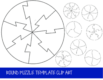 Round Puzzle Clip Art Set (32 Files)