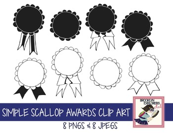 Simple Scallop Awards Clip Art (Perfect for Olympics)