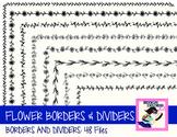 DOLLAR SALE: Skinny Flower Borders and Dividers (48 Files)