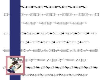 Skinny Pencil Border & Divider Set (80 Files)