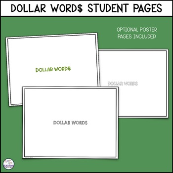 DOLLAR WORD$: A Stress-Free Cooperative Assignment