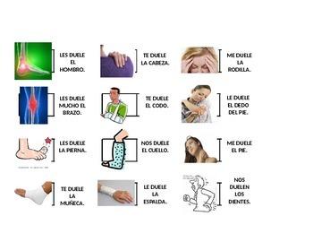 DOMINO WITH DOLER AND BODY PARTS IN SPANISH. EL CUERPO HUM