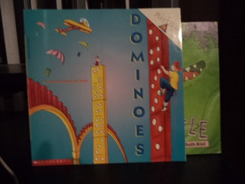 DOMINOES-A PLANET DEXTER, JR BOOK,TOLLIWOFFLE-(set of 2)