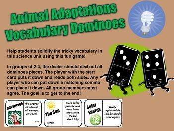 DOMINOES- Animal Adaptations