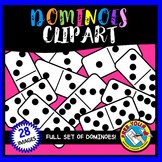 DOMINOES CLIPART (BLACK AND WHITE)