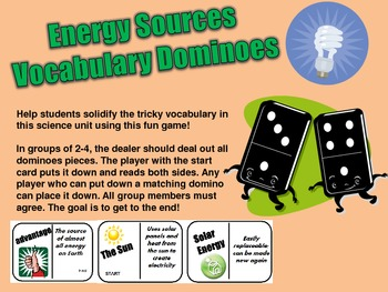 DOMINOES- Energy Sources