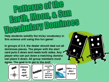 DOMINOES- Patterns of the Earth, Moon & Sun
